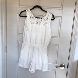 Target white lace romper